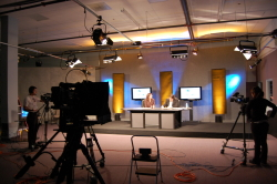 Professional webcast studio
